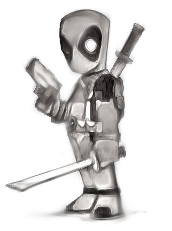 Dibujos a lapiz de Deadpool faciles - Dibujando un Poco