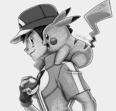 Dibujos a lapiz de videojuegos ash y pikachu - Dibujando un Poco