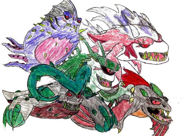 Dibujos de Bajoterra babosas malvadas megamorfosis - Dibujando un Poco