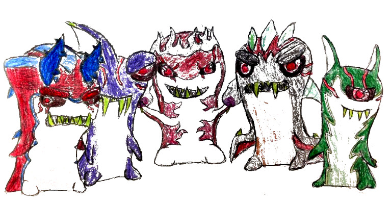 Dibujos de Bajoterra babosas malvadas principales - Dibujando un Poco