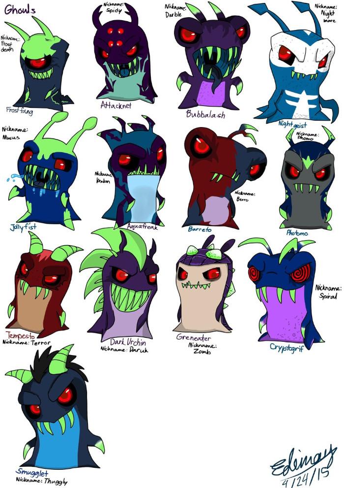 Dibujos de Bajoterra babosas malvadas todas - Dibujando un Poco