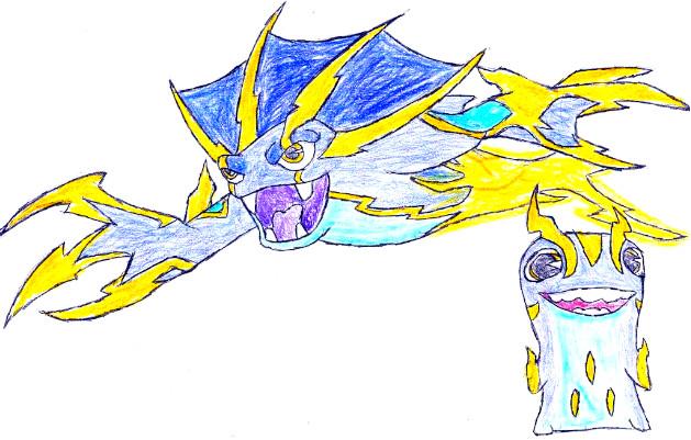 Dibujos de Bajoterra megamorfosis phing - Dibujando un Poco