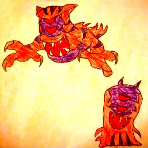 Dibujos de Bajoterra megamorfosis - Dibujando un Poco