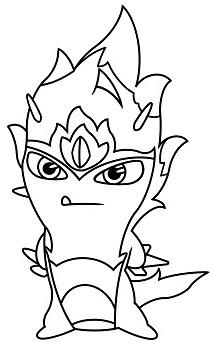 Dibujos de Bajoterra para colorear de las elementales elemental de fuego - Dibujando un Poco