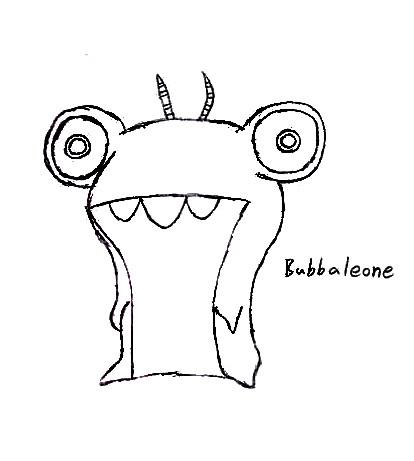 Dibujos de Bajoterra para dibujar bubbaleone - Dibujando un Poco