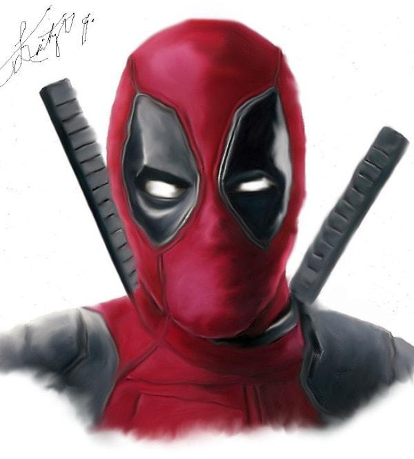 Dibujos de Deadpool 2 de frente - Dibujando un Poco