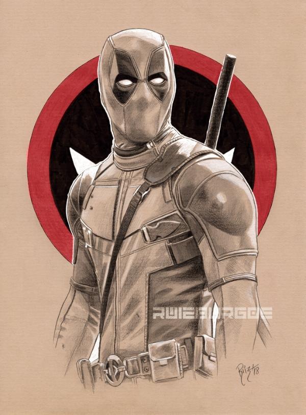 Dibujos de Deadpool 2 para dibujar - Dibujando un Poco