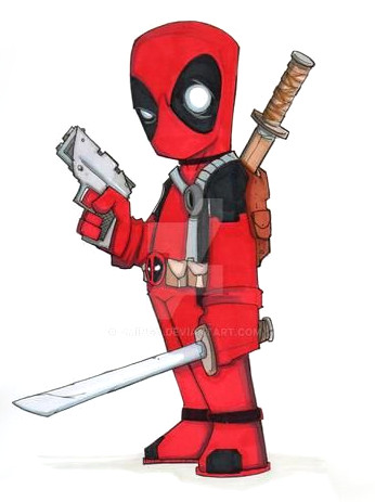 Dibujos de Deadpool faciles - Dibujando un Poco