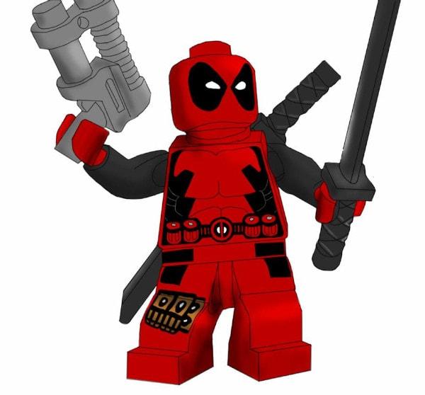 Dibujos de Deadpool lego para dibujar - Dibujando un Poco