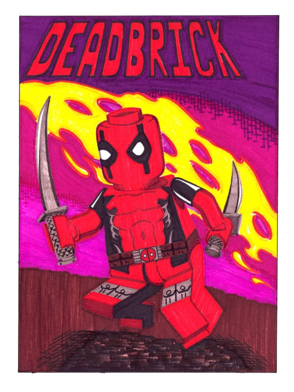 Dibujos de Deadpool lego - Dibujando un Poco