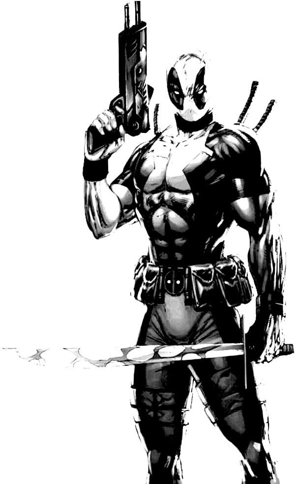 Dibujos de Deadpool para dibujar - Dibujando un Poco