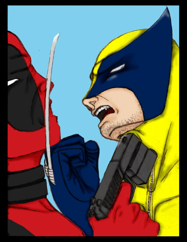 Dibujos de Deadpool vs wolverine comic - Dibujando un Poco