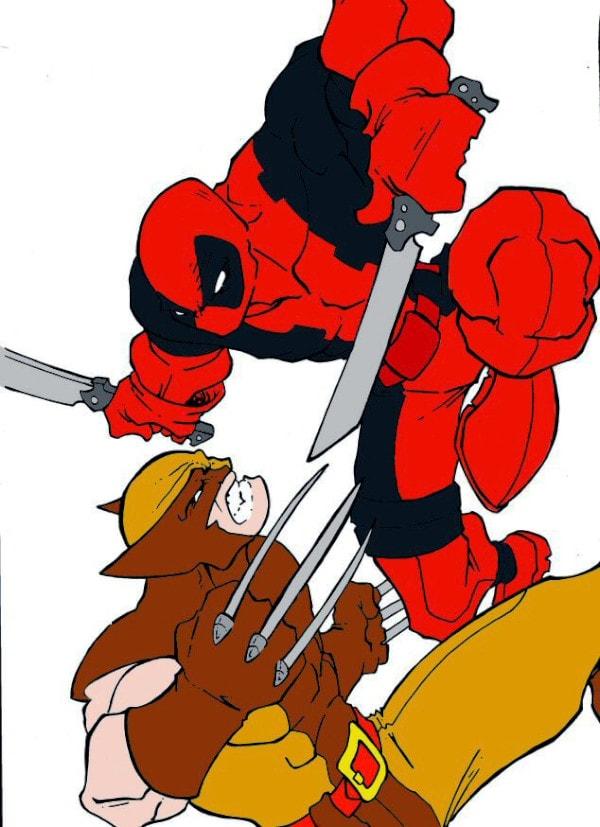 Dibujos de Deadpool vs wolverine para dibujar - Dibujando un Poco