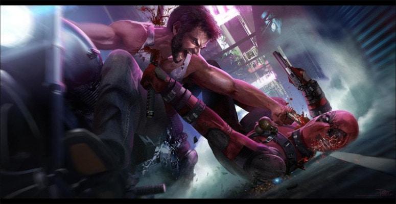 Dibujos de Deadpool vs wolverine realista - Dibujando un Poco