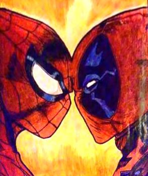 Dibujos de Deadpool y spiderman peleando - Dibujando un Poco