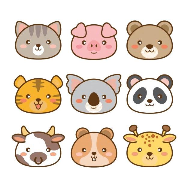 dibujos kawaii de animales faciles