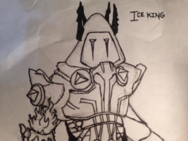 Dibujos de fortnite a lapiz rey de hielo - Dibujando un Poco
