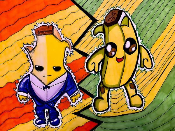 Dibujos de fortnite kawaii banana de fornite peely - Dibujando un Poco