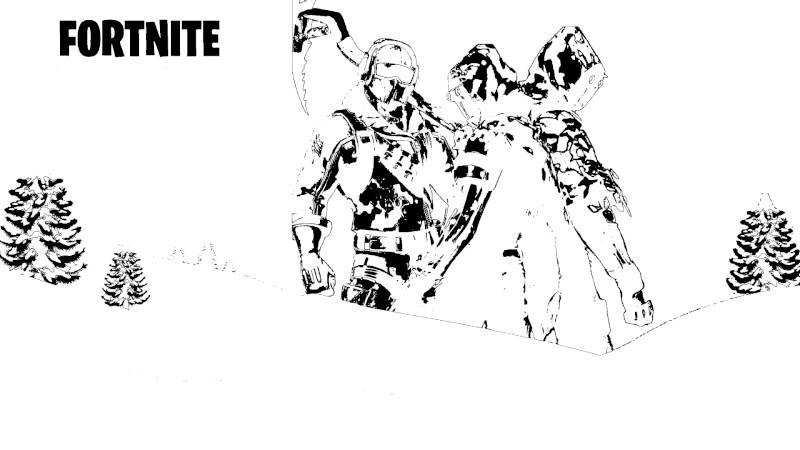 Dibujos de fortnite para colorear temporada 7 pico de hielo - Dibujando un Poco