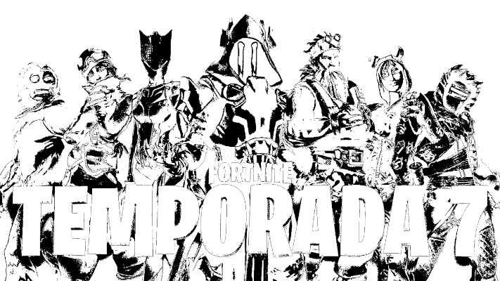 Dibujos de fortnite para colorear temporada 7 portada - Dibujando un Poco