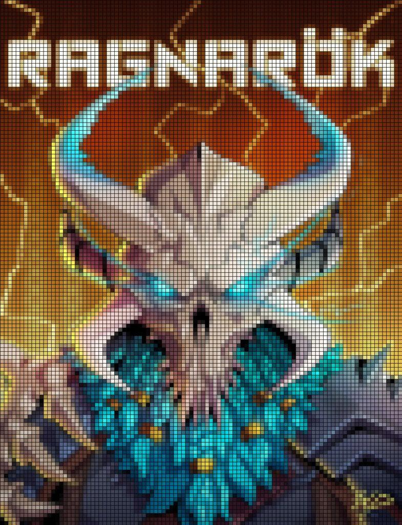 Dibujos de fortnite pixel art ragnarok - Dibujando un Poco