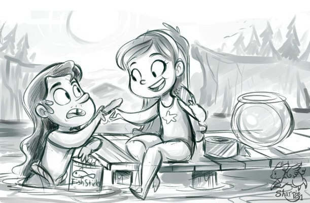 Dibujos de gravity falls para dibujar mabel y el sireno - Dibujando un Poco