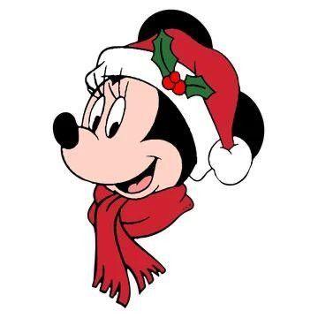 Dibujos de navidad de Disney cara de minie - Dibujando un Poco
