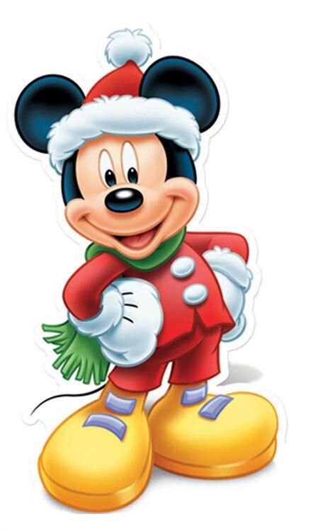 Dibujos de navidad de Disney mickey - Dibujando un Poco