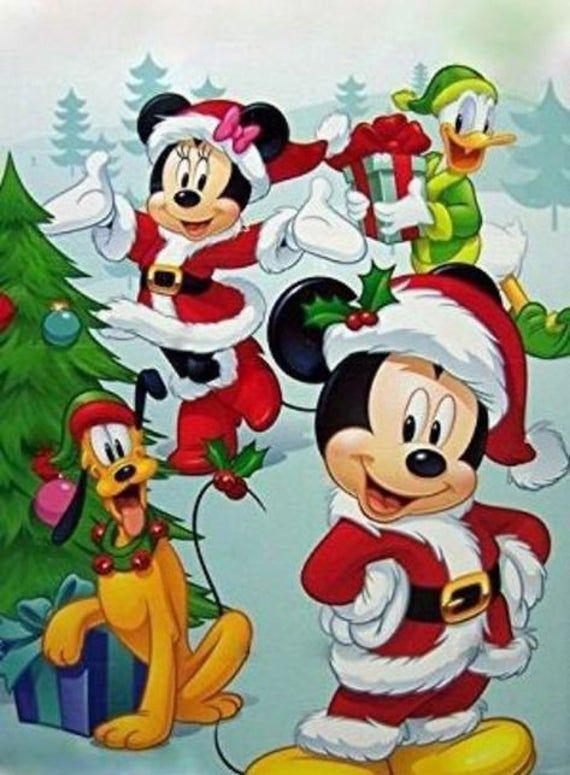 Dibujos de navidad de Disney minie mickey pluto y donald - Dibujando un Poco