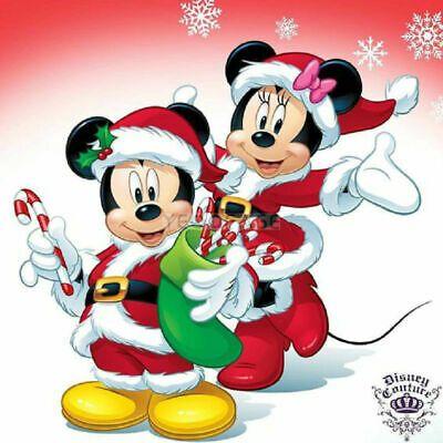 Dibujos de navidad de Disney minie y mickey - Dibujando un Poco