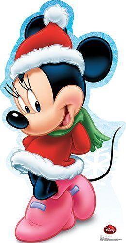 Dibujos de navidad de Disney minie - Dibujando un Poco