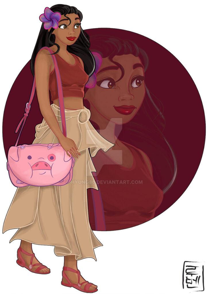 Dibujos de personajes de Disney moana - Dibujando un Poco