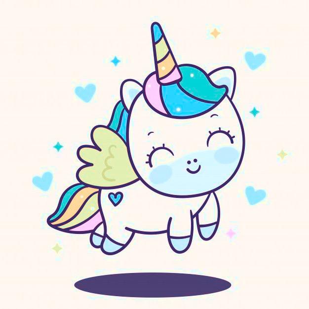 Dibujos de unicornios kawaii faciles Lindo angel Unicornio - Dibujando un Poco