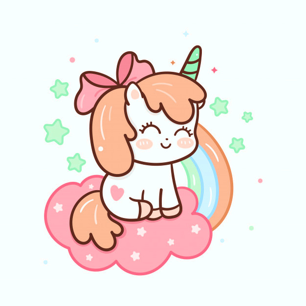 Dibujos de unicornios kawaii faciles - Dibujando un Poco