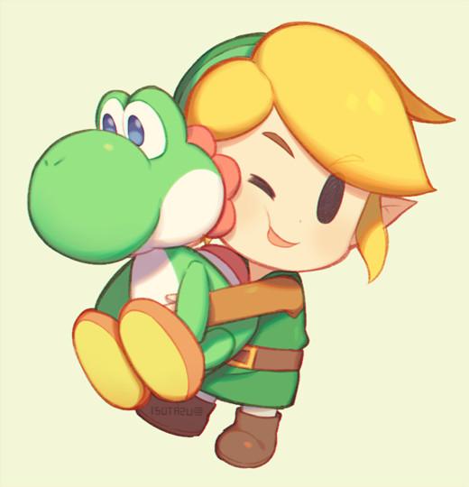 Dibujos de videojuegos faciles link y yoshi - Dibujando un Poco