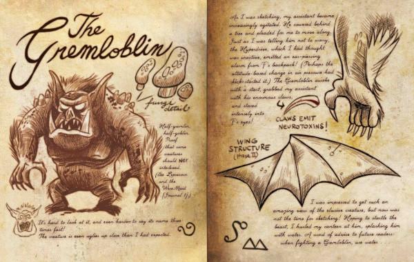 Dibujos del diario de gravity falls Gremnomo - Dibujando un Poco