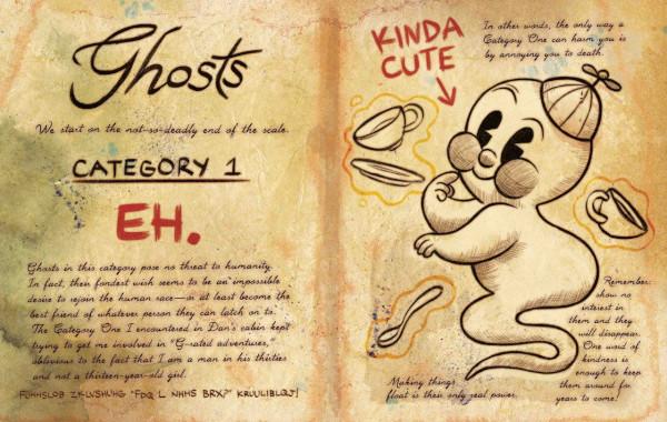 Dibujos del diario de gravity falls fantasmas - Dibujando un Poco