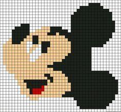 Dibujos en cuadricula de Disney mickey - Dibujando un Poco