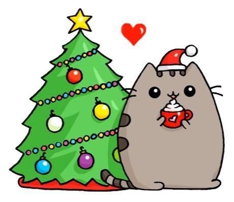 Dibujos kawaii de navidad faciles gato kawaii - Dibujando un Poco