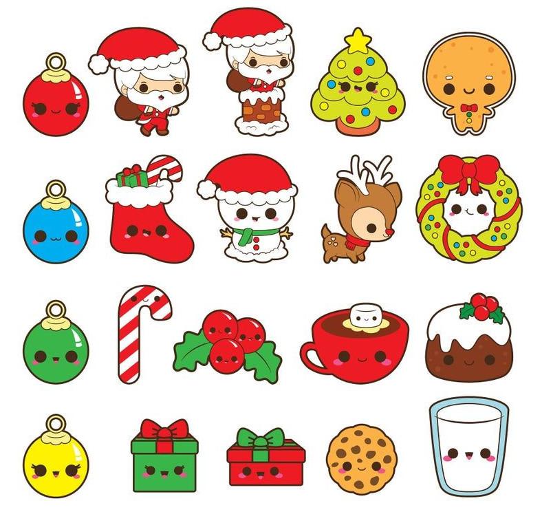 Dibujos kawaii de navidad faciles - Dibujando un Poco
