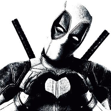 Dibujos para colorear de Deadpool 2 corazon - Dibujando un Poco