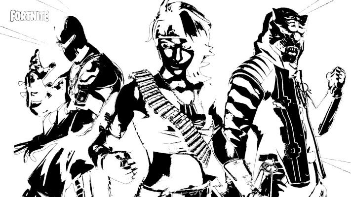 Dibujos para colorear de fortnite temporada 8 - Dibujando un Poco