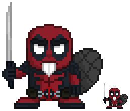 Dibujos pixelados de Deadpool guerrero - Dibujando un Poco