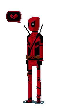 Dibujos pixelados de Deadpool - Dibujando un Poco