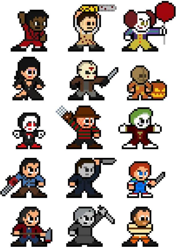 Dibujos pixelados de videojuegos personajes de terror por 8BitHeroDotOrg en DeviantArt - Dibujando un Poco
