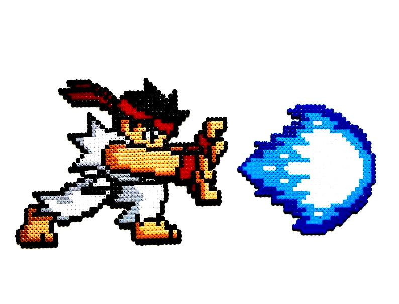 Dibujos pixelados de videojuegos street fighter Ryu - Dibujando un Poco
