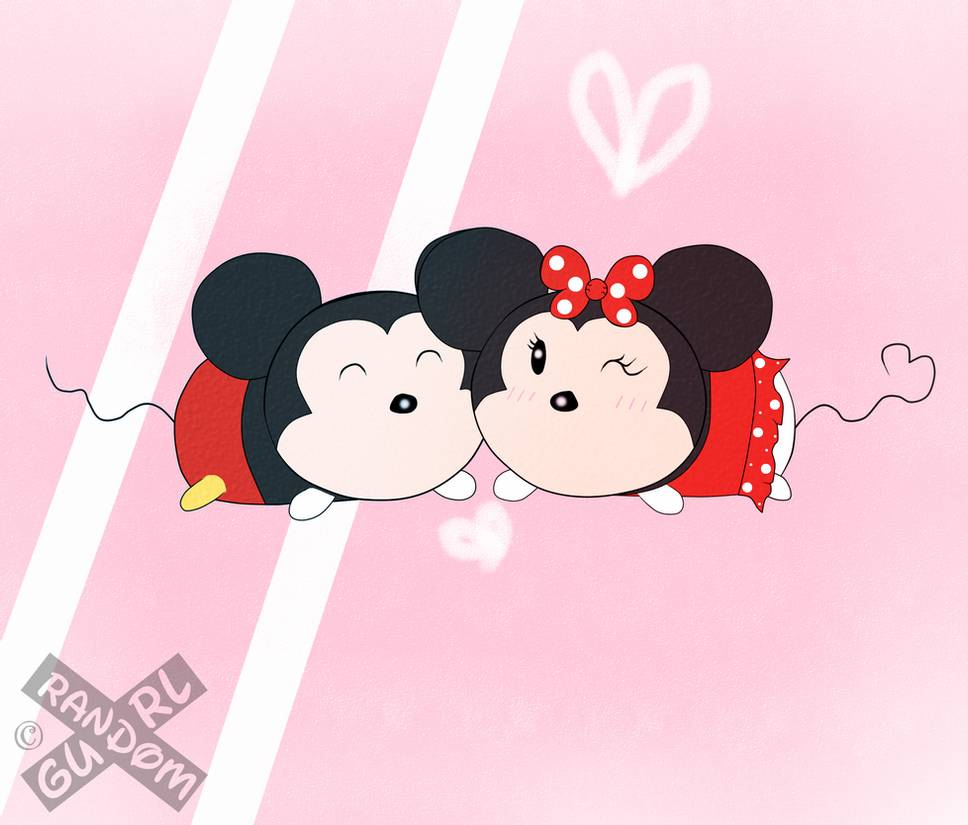 Tsum Tsum Disney dibujos minie y mickey enamorados - Dibujando un Poco