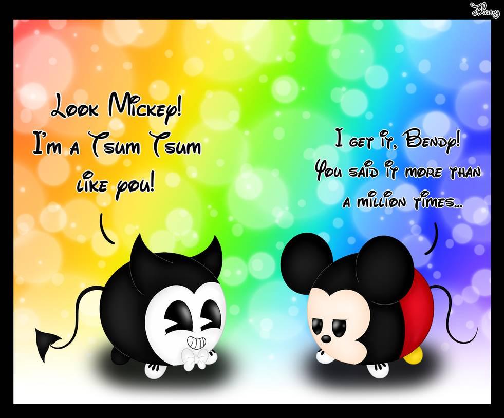 Tsum Tsum Disney dibujos minie y mickey - Dibujando un Poco