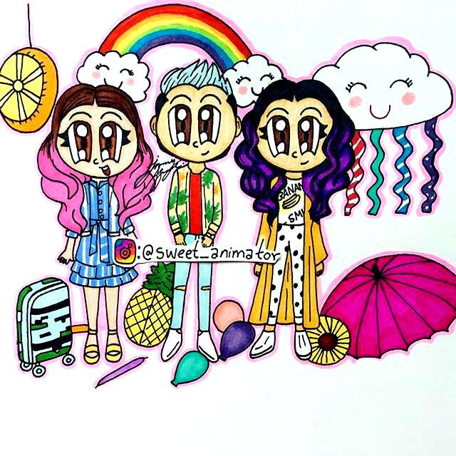 dibujos de Los polinesios kawaii lesslie - Dibujando un Poco
