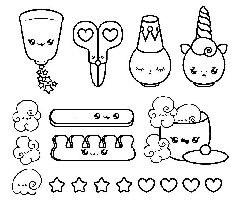 dibujos de caritas kawaii para colorear - Dibujando un Poco